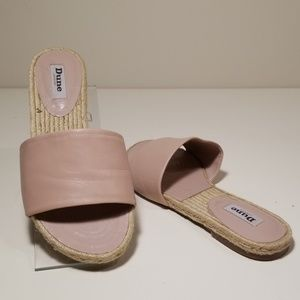 DUNE London Pale Pink Leather Sandals 10
